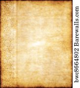 art print of old yellow brown vintage parchment paper texture