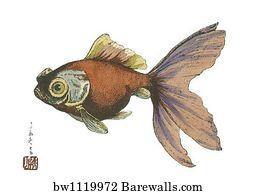 Japanese Fish Art Print Poster