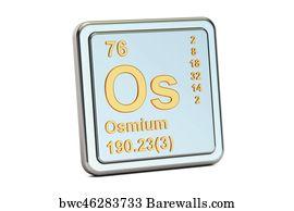 72 osmium element periodic table posters and art prints barewalls osmium element periodic table art print poster osmium os chemical element sign 3d urtaz Choice Image