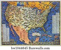 38 788 United States Map Posters And Art Prints Barewalls