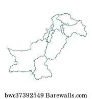 Pakistan map, Art Print | Barewalls Posters & Prints