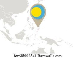 261 Palau Map Posters And Art Prints Barewalls
