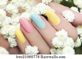 18109 nail art posters and art prints barewalls nail art art print poster pastel manicure prinsesfo Image collections