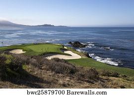 Pebble Beach Golf Course Monterey California Usa