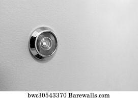 Spy Hole Or Peephole View At Door Art Print Poster - Peephole On A Door & 27 Spy hole or peephole view at door Posters and Art Prints | Barewalls
