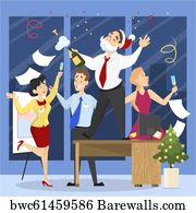 474 Office Christmas Party Cartoons Posters And Art Prints Barewalls