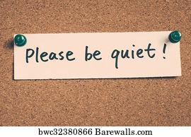 art print of please be quiet barewalls posters prints bwc32380866