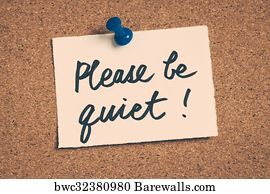 art print of please be quiet barewalls posters prints bwc32380980