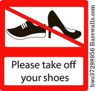 graphic regarding Please Take Off Your Shoes Sign Printable called 260 Just take off your footwear Posters and Artwork Prints Barewalls
