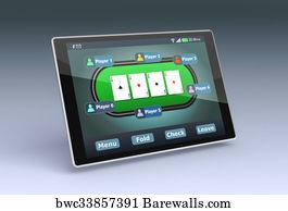 Online Poker Art Print Barewalls Posters Prints Bwc1448520