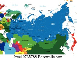 Central Asia Posters And Art Prints Barewalls - Central asia political map