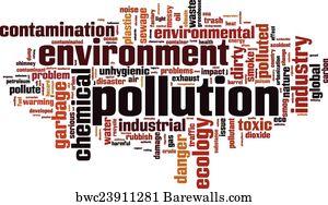 art print of pollution word cloud barewalls posters prints