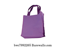 Cheesecloth Bag Art Print Poster Purple Cotton