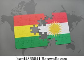 92 kurdistan map posters and art prints barewalls kurdistan map art print poster puzzle with the national flag of bolivia and kurdistan on gumiabroncs Images