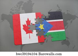793 map of south sudan posters and art prints barewalls map of south sudan art print poster puzzle with the national flag of canada and gumiabroncs Gallery