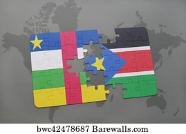 450 republic of south sudan posters and art prints barewalls republic of south sudan art print poster puzzle with the national flag of central african gumiabroncs Gallery