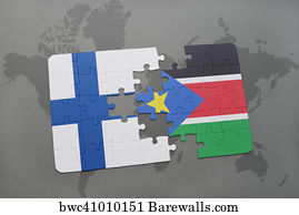 793 map of south sudan posters and art prints barewalls map of south sudan art print poster puzzle with the national flag of finland and gumiabroncs Gallery