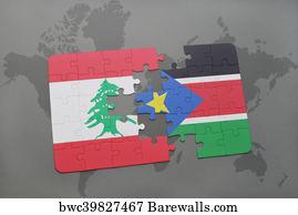 206 juba posters and art prints barewalls juba art print poster puzzle with the national flag of lebanon and south sudan on gumiabroncs Image collections