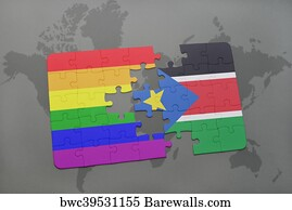 206 juba posters and art prints barewalls juba art print poster puzzle with the national flag of south sudan and gay rainbow gumiabroncs Image collections