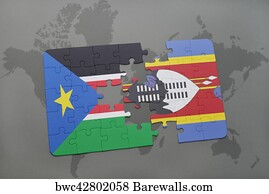 793 map of south sudan posters and art prints barewalls map of south sudan art print poster puzzle with the national flag of south sudan gumiabroncs Gallery