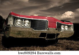 Art Print Of Muscle Car Cruise Barewalls Posters