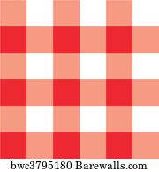 Bon Red Picnic Table Cloth Plaid