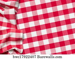 Superbe Red Picnic Tablecloth Checkered