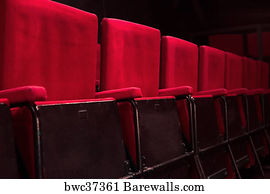 red theater seats empty red theatre seats art print poster 2089 theatre seats posters and prints barewalls