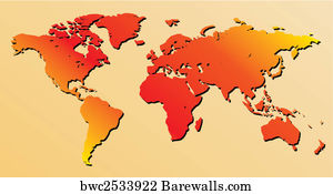 8150 detailed vector world map of posters and art prints barewalls detailed vector world map of art print poster red world map vector gumiabroncs Choice Image