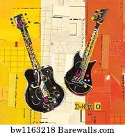 Rock Music Art Print Poster