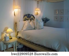 Bnb Art Print Poster   Romantic Bedroom At A Country Bnb