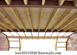 roof trusses art print poster roof trusses at a house