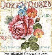 English Garden Art Print Poster   Rose Garden Ii