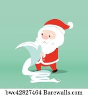 H Santa Checking The List Art Print Home Decor Wall Art Poster