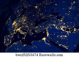 Artificial Satellites Posters And Art Prints Barewalls - Satellites map