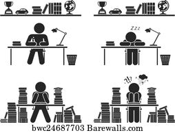 School days  Pictogram icon set  , Art Print | Barewalls