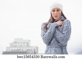 525 shivering woman posters and art prints barewalls