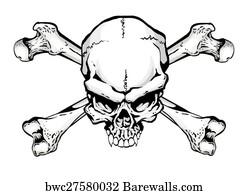 8663 Skull Crossbones Posters And Art Prints Barewalls