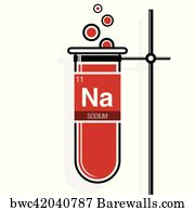 86 sodium element periodic table posters and art prints barewalls sodium element periodic table art print poster sodium symbol on label in a red test urtaz Gallery