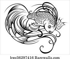 art print of zentangle stylized fish barewalls posters prints 18th Century Artists Names art print poster stylized beautiful fish