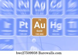 9699 periodic table of elements posters and art prints barewalls periodic table of elements art print poster symbol of gold urtaz Image collections