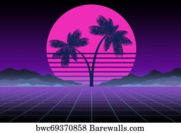 1,146 Synthwave Posters and Art Prints | Barewalls
