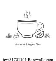 D Teacup Lemon Tea Kraft Art Print Home Decor Wall Art Poster
