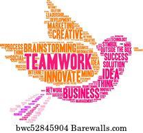 Word cloud - teamwork art print poster