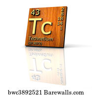 76 technetium posters and art prints barewalls technetium art print poster technetium form periodic table of elements wood board urtaz Images