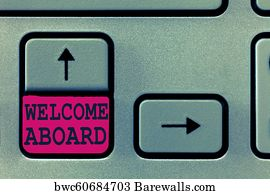 484 welcome aboard posters and art prints barewalls welcome aboard art print poster text sign showing welcome aboard conceptual photo expression of m4hsunfo