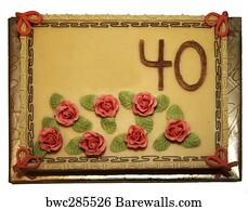 The Second Birthday Cake Art Print