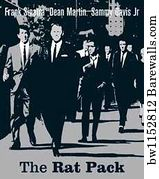 Rat Pack Art Print Poster The Silver