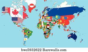 44256 china japan posters and art prints barewalls china japan art print poster the world map gumiabroncs Images