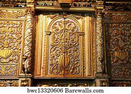 Merveilleux Torah Cabinet Art Print Poster   Torah Scrolls Cabinet.